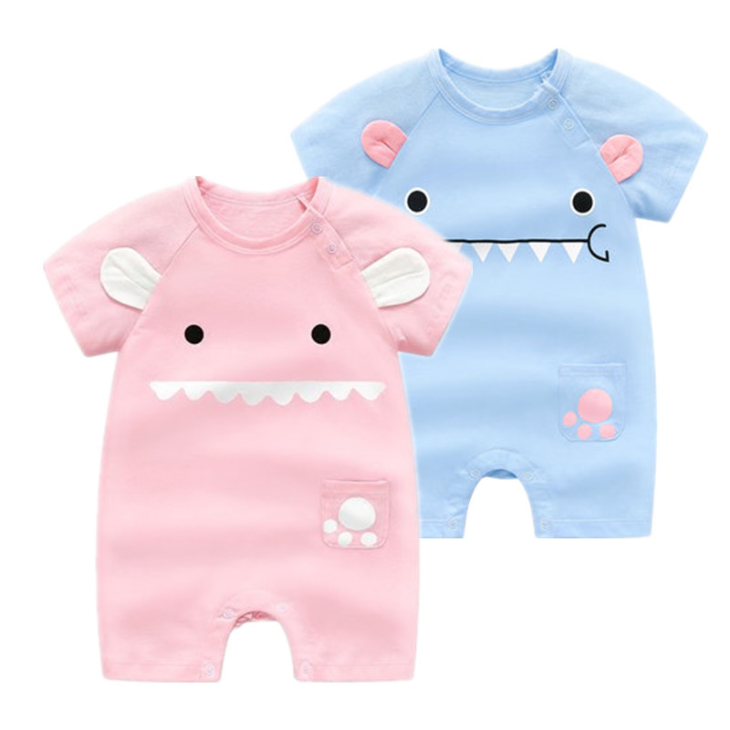 6a93c80925a9 Detail Feedback Questions about Hot Sale!baby Summer Cotton Short sleeved  Jumpsuit 0 2 Years Old Children Climbing Thin Clothes Baby Boys Girls Animal  ...