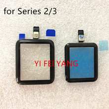 1pcs 터치 스크린 디지타이저 애플 시계 시리즈 5 시리즈 4 시리즈 3 2 1 40mm ,44mm,38mm 42mm 터치 스크린 수리 부품