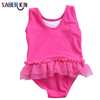 2017 Girls Swimwear One Piece Girls Swimsuit Children Swimming Suit One Piece Swim Wear Children Swimming SW627-CGR1