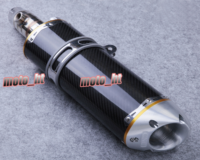Stainless Steel Carbon Fiber Exhaust Pipe Fit for Kawasaki 2009 2010 ER 6N Motor Spare Parts