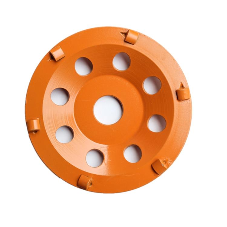 PCD04 béton PCD plaque de meulage 6 pouces Top qualité diamant PCD disque de meulage pour revêtement de colle époxy enlevant 9 pièces