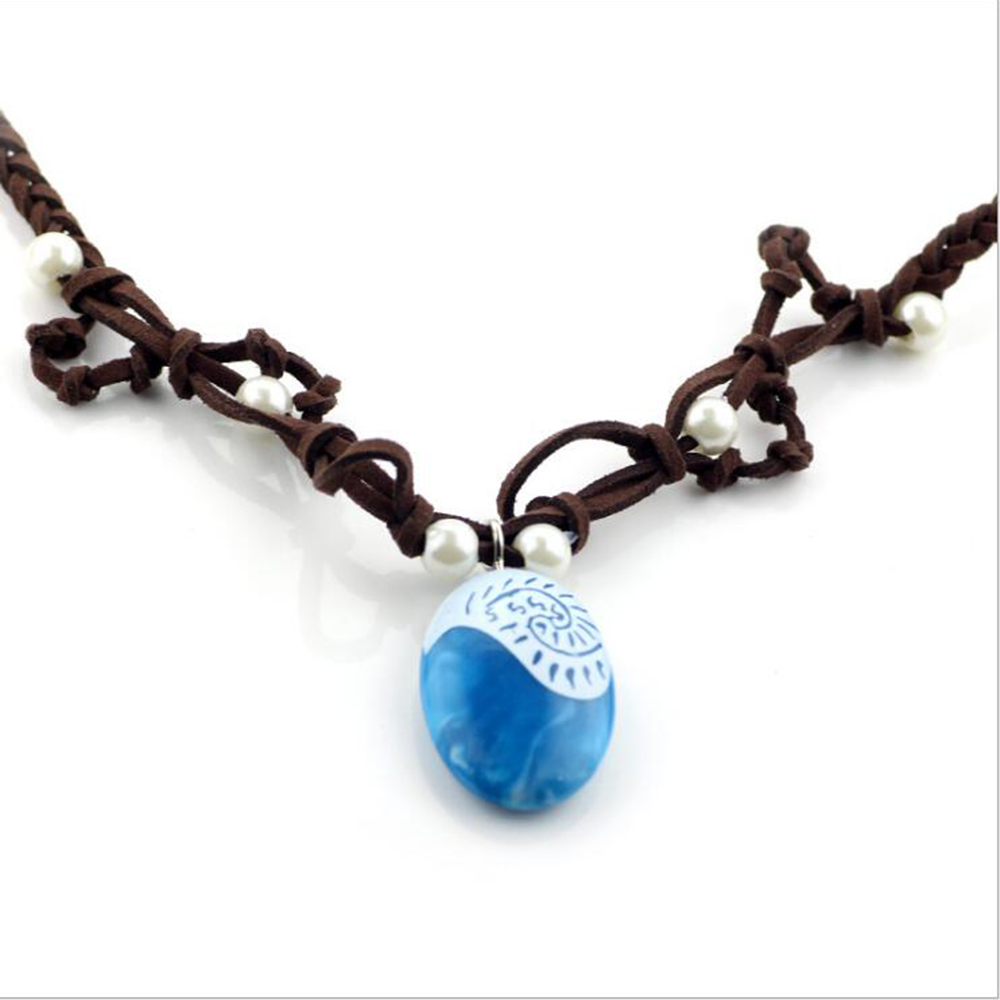Hot moana ocean romance rope chain necklaces blue stone necklaces hot moana ocean romance rope chain necklaces blue stone necklaces pendants choker necklace for women girls jewelry in pendant necklaces from jewelry aloadofball Image collections