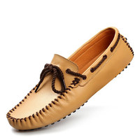 New Style Geuine Leather Men Shoes Fashion Moccasins Single Loafers Man Classic Casual Flat Shoe Slip