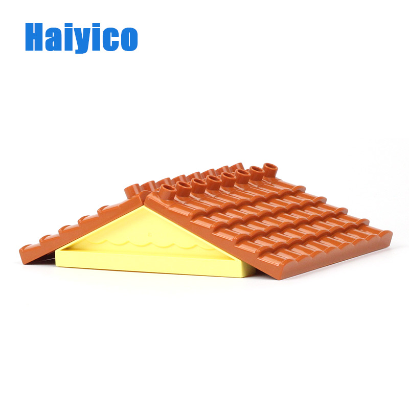 Big Particles Assembling Accessories Set Building Blocks DIY Toys Creativity Compatible with Duplo sided roof For children Gift цена 2017