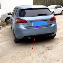Rear Bumper Spoiler For Peugeot 308 2014 2015 Lip Diffuser Bumpers Protector