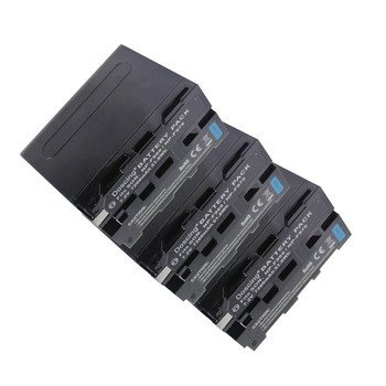 3Pcs 7200mAh NP-F960 NP-F970 NP F930 Battery for SONY F950 F330 F550 F570 F750 F770 HXR-NX5 HXR-NX5P HXR-NX5V HXR-NX5U MVC-FD51 фото