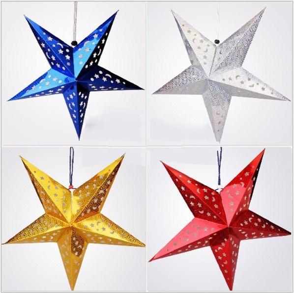 5pcslot 30 cm christmas star ceiling ornaments paper stars scene 5pcslot 30 cm christmas star ceiling ornaments paper stars scene lampshade aloadofball Images