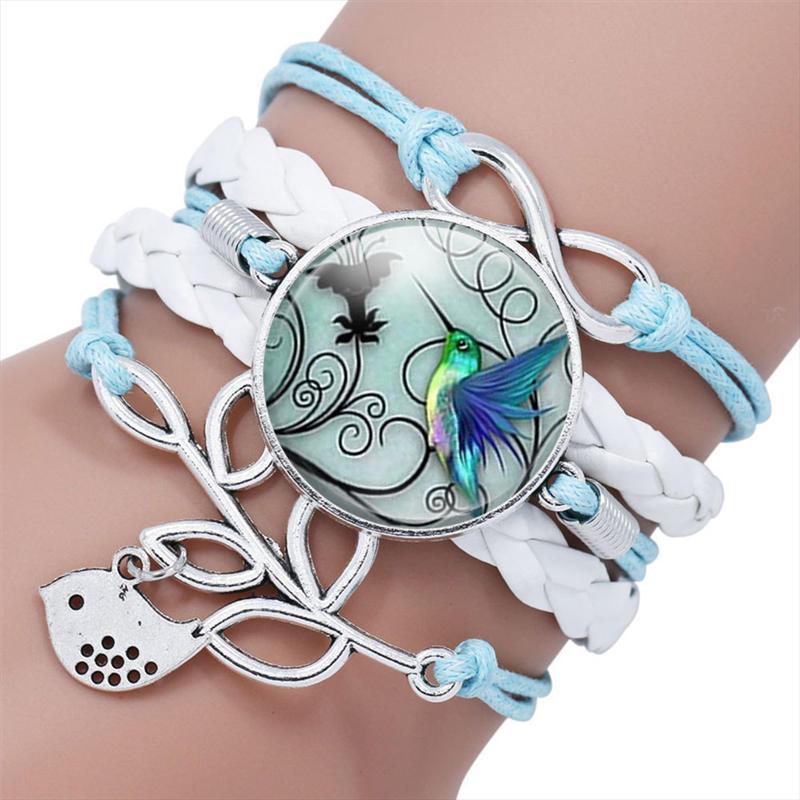 2019 Fashion Cute House Birds Crystal Wrap Bracelet Multilayer Alloy Olive Branch Charm Bracelet for Kids PGSL2-026