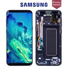 Хорошее Оригинал AMOLED Дисплей для SAMSUNG Galaxy S8 Экран Замена ЖК-дисплей сенсорный экран S8 плюс ЖК-дисплей G950 G950F G955 G955F