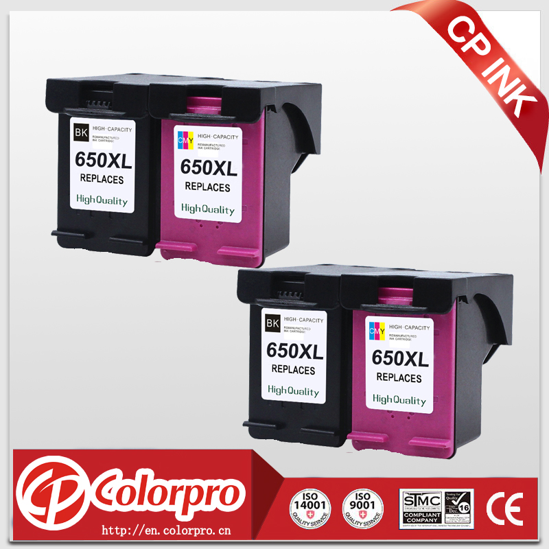 CP 650 Replacement for HP 650 650XL Ink Cartridge for HP Deskjet 1015 1515 2515 2545