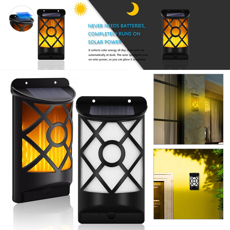 Flame Light Decoration Decor Lamp Outdoor Solar Wall Lights Waterproof Fire Light Wall Light 2835SMD 66 LED Garden Lamp HomeFlame Light Decoration Decor Lamp Outdoor Solar Wall Lights Waterproof Fire Light Wall Light 2835SMD 66 LED Garden Lamp Home