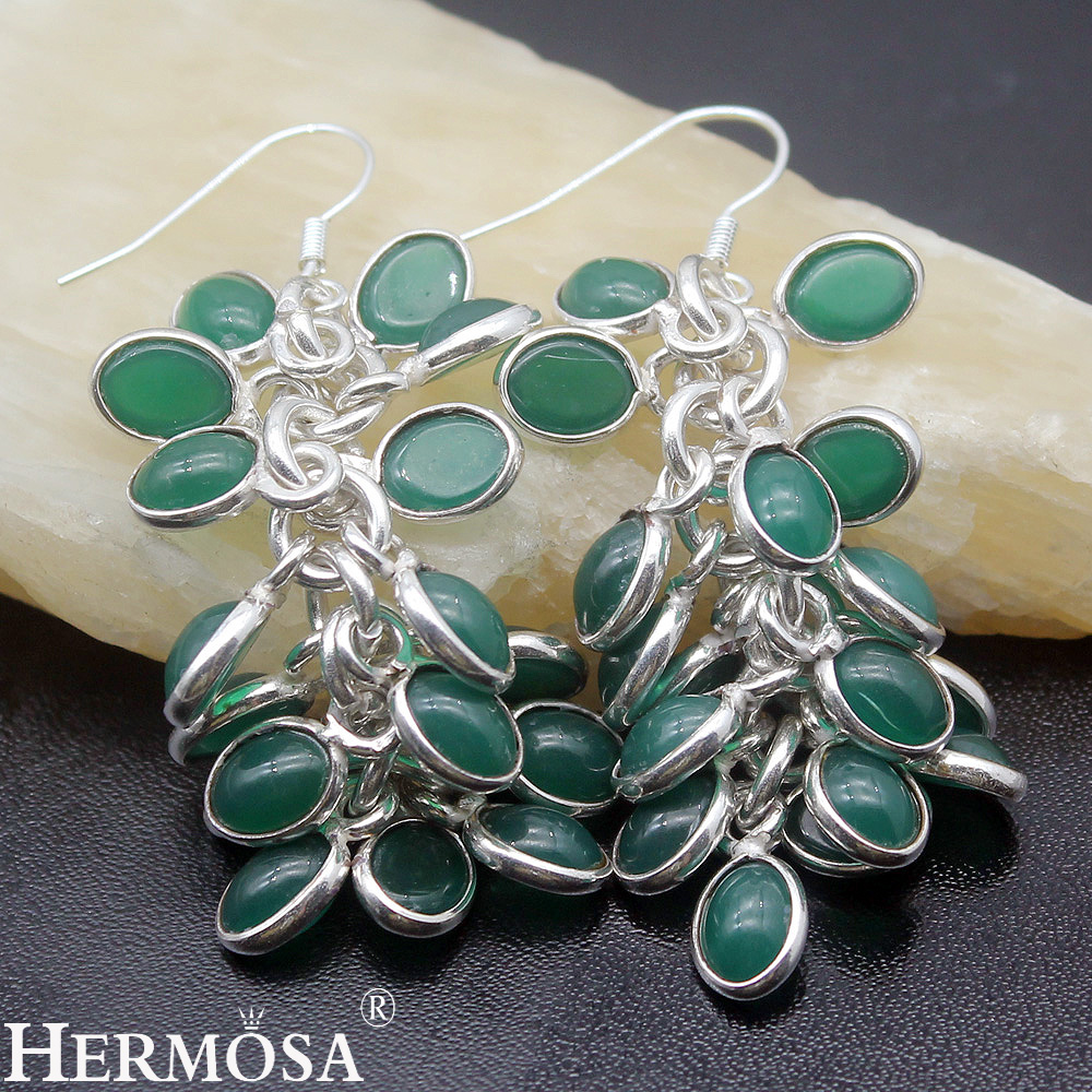 Green Chalcedony Dangle Exotic Jared Jewelry Pretty Women Sterling