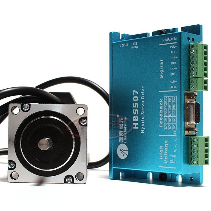 New original Leadshine nema23 2NM Hybrid servo kit HBS507+573HBM20-1000 Closed loop stepping motor drive 57mm 100w new leadshine closed loop system a servo drive hbs507 and 3 phase servo motor 573hbm10 1000 with a cable a set cnc part