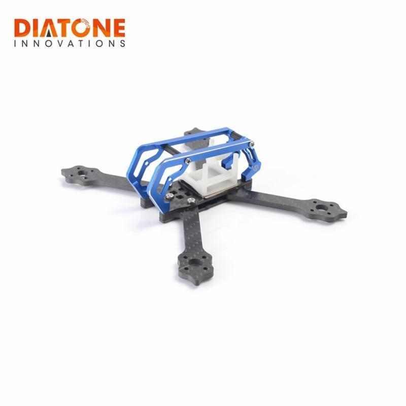 все цены на Diatone 2018 GT-M3 130mm Normal X /143mm Stretch X FPV Racing Frame Kit RC Drone 3mm Arm Titanium/Green/Blue For DIY Multi Rotor