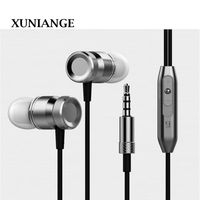 XUNIANG metal in-ear wire headset headphones subwoofer mobile computer explosion models universal headset spot