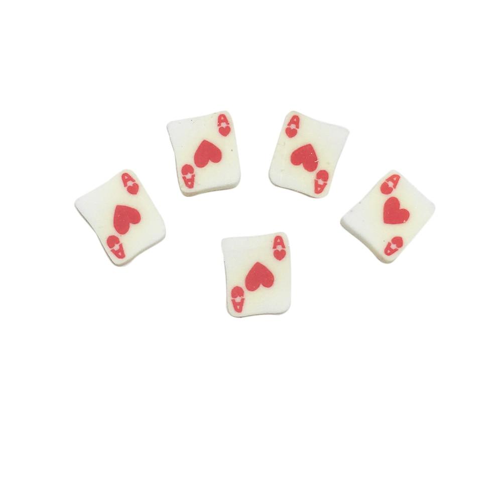 Clay Canes Panda Nail Studs 3D Poker Tarjetas Panda chino Nail Art - Arte de uñas - foto 2