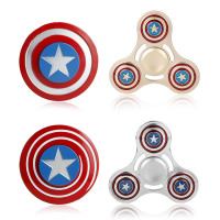 4 Style Captain America Torqbar Fidget Hand Spinner Super Hero Zinc Alloy Metal Fidget Spinner Metal