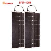 Dokio Гибкая солнечная панель 100 Вт монокристаллический солнечный элемент 200 Вт 400 Вт 600 Вт 800 Вт 1000 Вт солнечная панель комплект для RV/лодка/дома