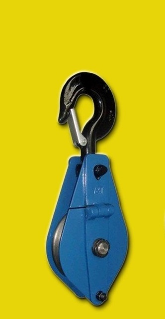 3Ton snatch pulley block steel wire rope lifting chain hoist chain block crane lifting sling material handling tool