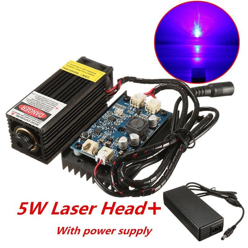 5 W/10 W/15 W/17 W cabezal láser grabado DIY madera marcado para grabador 450nm luz azul marcado grabador con modulación TTL