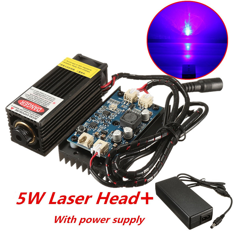 5W/10W/15W/17W Laser Head Engraving Module DIY Wood Marking For Engraver 450nm Blue Light Marking Engraver With TTL Modulation focusable 450nm 1 6w blue laser module wood marking engraver machine 445nm 1600mw cnc laser head ttl