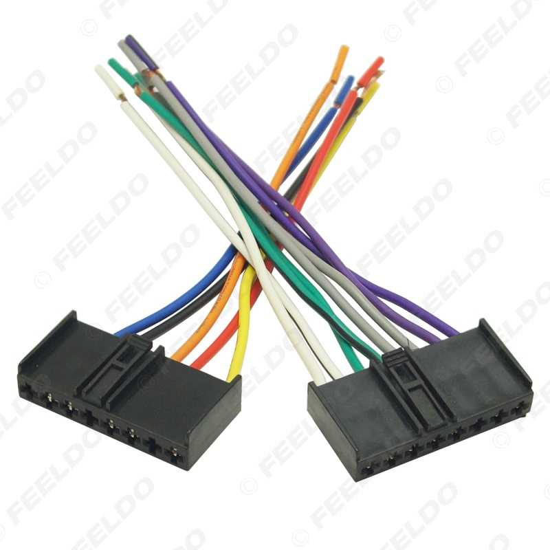LEEWA 10pcs Car CD/DVD Audio Stereo Wiring Harness Adapter Plug for on