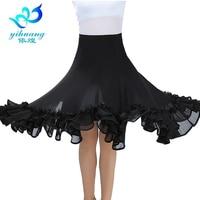 Ballroom Dance Costume Skirt Tango Modern Standard Performance Waltz Salsa Rumba Training Half Dress Elastic Waistband #2537 1