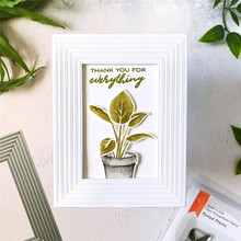 Flower Pot Leaves Metal Cutting Dies and Clear Stamps Scrapbooking New 2019 Die Cuts for Card Making Craft Stitch
