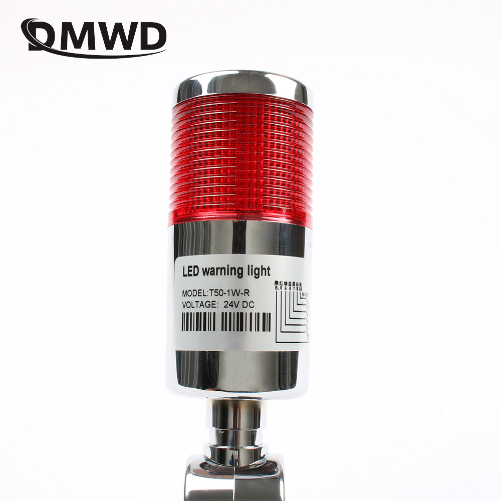 Industrial Multilayer Stack light Lamp Signal Tower Alarm caution light Flash Industrial Tower Red LED Sliver 1 layer with base