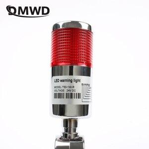Lámpara de múltiples capas Industrial, torre de señal, alarma, advertencia, luz Flash, Torre Industrial, LED rojo plateado, 1 capa con base