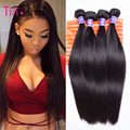 Peruvian Virgin Hair Straight 4 Bundles 8A Peruvian Human Hair Bundles Queen Hair Products Peruvian Straight Virgin Hair