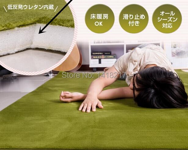 super doux velours corail vert tapis salon table basse chambre