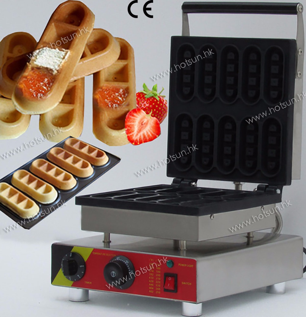 Commercial Non-stick 110V 220V Electric 10pcs Chocolate Waffle Sticks Iron Maker Machine
