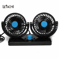 LSTACHi 360 Rotating Free Adjustment Car Auto Cooling Fan Ventilation Dashboard Electric Car Fan Summer Cooling Air Circulator