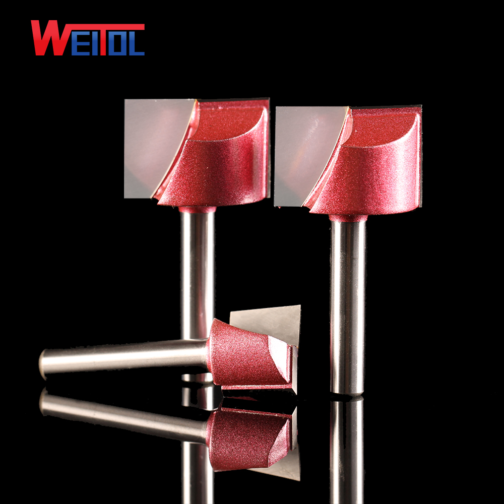 Weitol free shipping 6mm CNC wood Solid Carbide Milling Cutter Cleaning Bottom bit MDF PVC acrylic wood tool engraving bit 2pcs cnc carbide end mill tool 3d woodworking insert router bit tungsten cleaning bottom end milling cutter mdf pvc acrylic wood