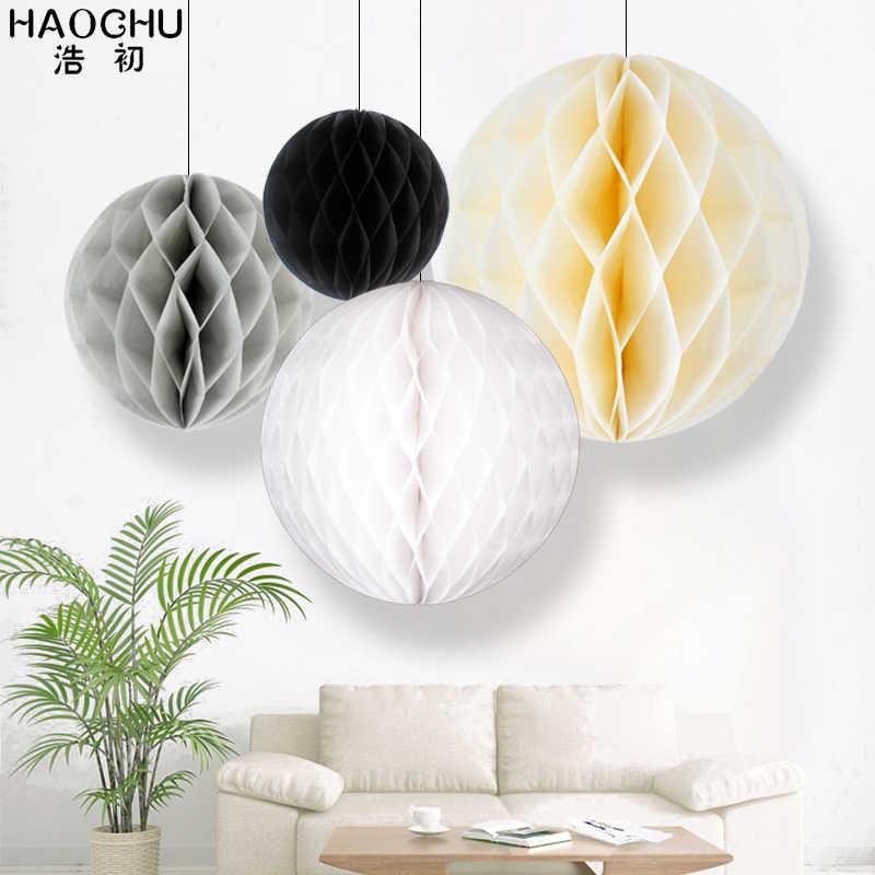 HAOCHU 4pcs Wedding Ideas Gift Festive Party Celebration Supplies Paper Honeycomb Ball New Year Baby Shower Birthday Paper Craft