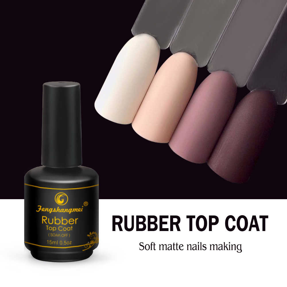 Fengshangmei 15Ml Matte Rubber Top Coat Gel Polish Seal Uv Neon Art Design Matte Gel Verdwijnt Populaire Gel Lak lak Matte