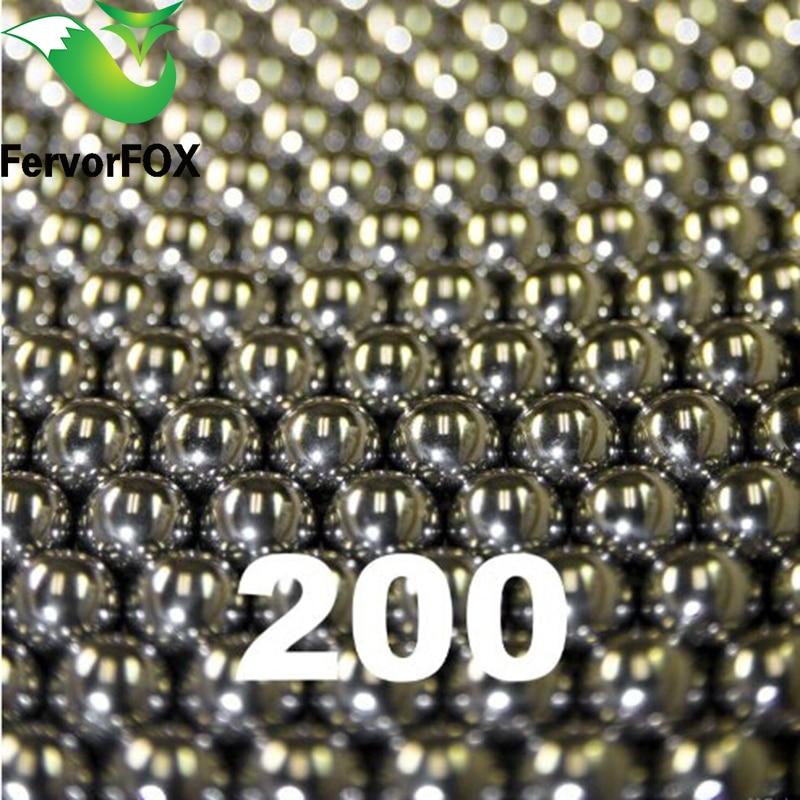 6.35mm / 200 unids bolas de acero AMMO para Catapulta de reemplazo de Caza Slingshot 200 unids / bolsa al aire libre
