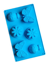silicone baking mould high temperature resistant oven soap mold butterfly ladybug flower shaped bath making
