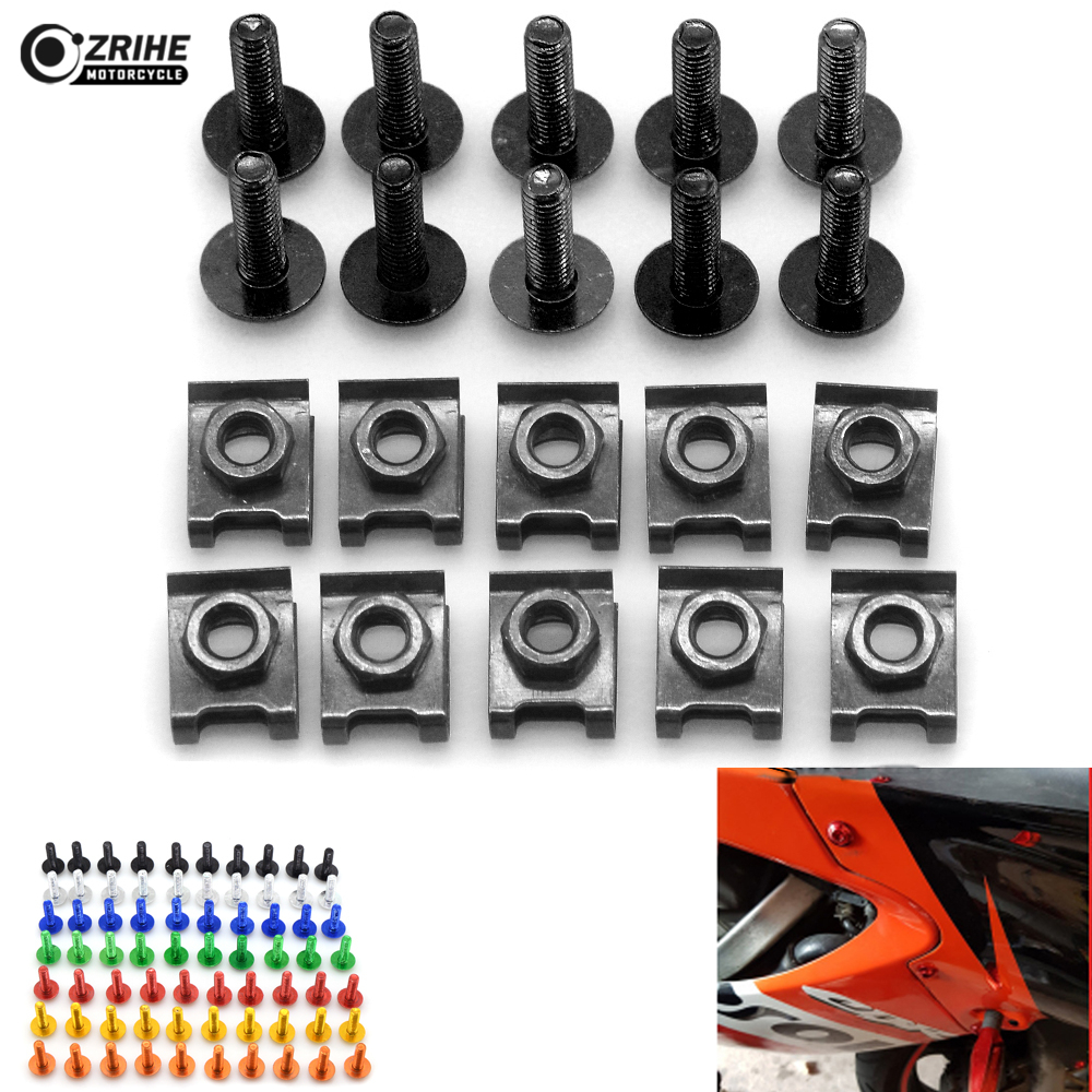 10pcs 6MM Universal CNC Motorcycle Accessories Fairing body work Bolts Screws for BMW F800GS F800R F800S F700GS F650GS