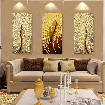 The new DIY digital painting a hand-painted decorative painting Caiyuanguangjin color hand-painted triple entrance