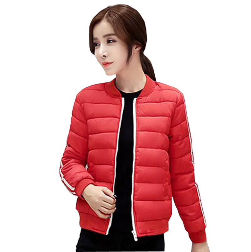 ФОТО 2016 new arrival casual jacket autumn winter jackets coat women short slim down cotton winter coat round collar jackets kp0915