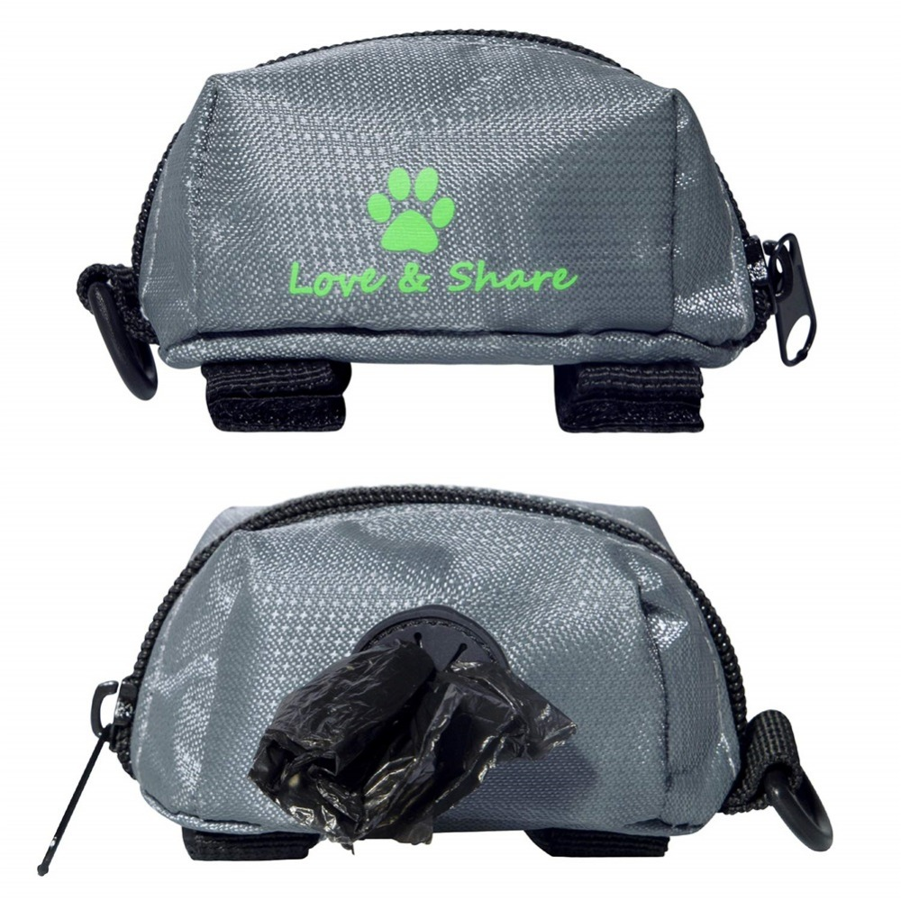 Portable Pet Waste Dog Poo Pick Up Bags Pet Poop Bag Holder Hook Pouch Travel Convenient