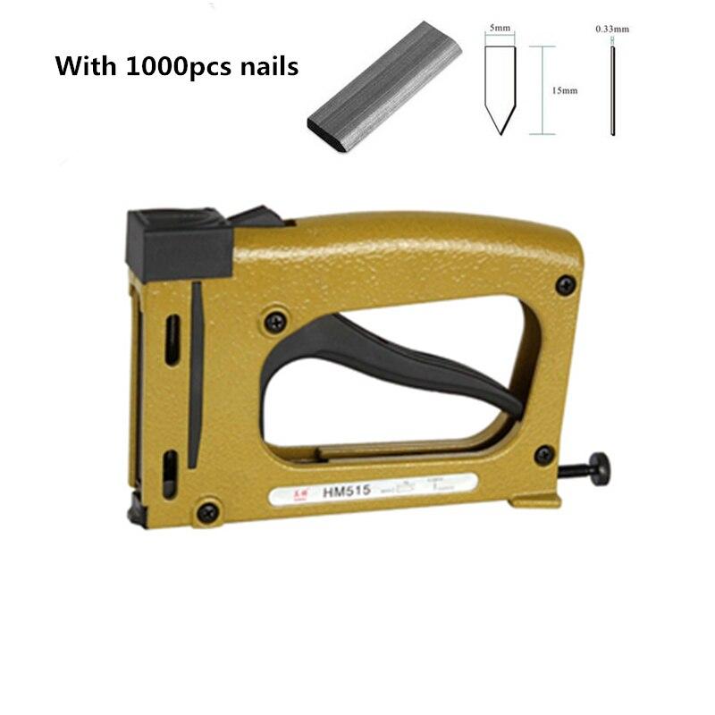 Ручной патч пистолет для ногтей, фиксированный ручной скобозабиватель с 1000 штырьками, фоторамка, инструмент для обработки ногтей