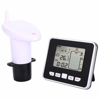 Ultrasonic Water Tank Level Meter Temperature Sensor Display Time Low battery Indicator Instruments Tools LCD Display
