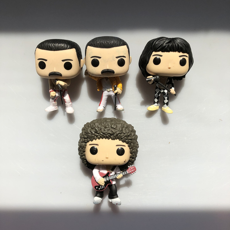 Original Funko Pop Used Rocks: Queen Band - Brian May, Freddie Mercury Vinyl Action Figure Collectible Model Loose Toy