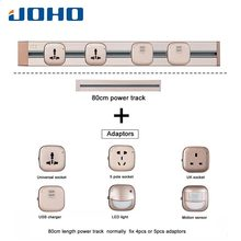 JOHO Multi-Functional 80CM EU Plug Socket 8000W Wall Power Outlet Socket With Double USB Port 250V For Living Room Bedroom