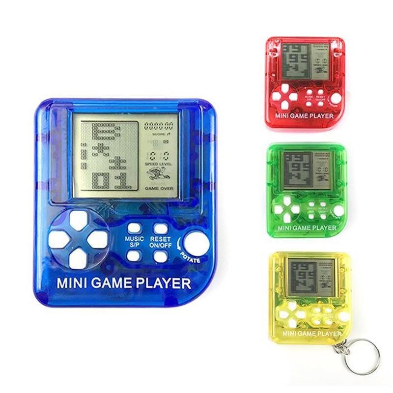 Children Handheld Console Game Mini Tetris Toys New Portable