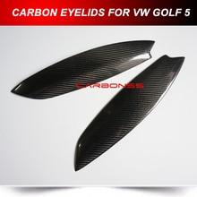 Carbon Fiber Eyelids Eyebrows Fit for Volkswagen Golf 5 V Jett MK5 GTI (Fits: 2007 Golf)