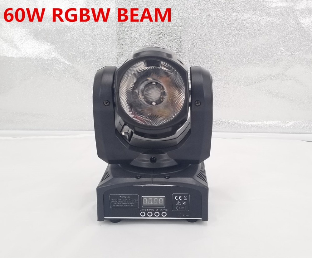 2pcs/lot mini led moving head 60W RGBW 4in1 beam moving head light beam moving head light super bright LED DJ Spot Light free shipping 2pcs lot led moving head light edison led 3w aluminum hose flexible star hotel retrofit chrome finish